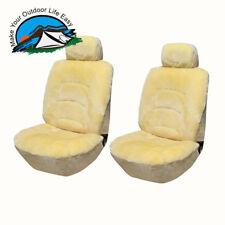 Genuine Universal Australian Sheepskin A Pair Low Back Seat Cover* Champagne
