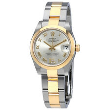 Rolex Oyster Perpetual Datejust Silver Diamond Dial Automatic Ladies Watch