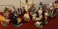 14 Piece Porcelain Nativity Scene Set