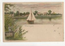 Wannsee 1899 Chromo Litho U/B Postcard Germany 401a