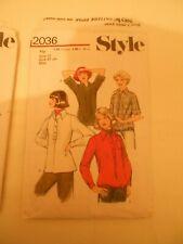 STYLE VINTAGE 2036 LADIES BLOUSES SIZE 12