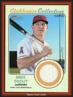 2017 Topps Heritage Clubhouse Collection Relics Mike Trout #CCR-MTR