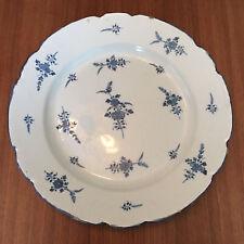 1 grand plat ancien faience Arras / Ardennes / brindilles, fleurettes / 36 cm