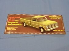 Nos 1971 Ford F100 F250 Explorer Special E Truck Long Large postcard 71 'E'