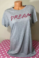"Victorias Secret NWT ""Dream"" Pink Glitter Short Sleeve Sleep Shirt Size Medium"