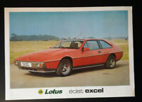 Lotus Eclat Excel 2.2 Leaflet / Brochure