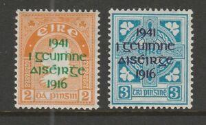 Ireland 1941 Easter Rising pair SG 126-127 Mnh.
