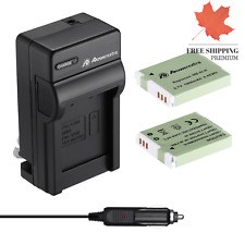 NB-6L NB-6LH Upgraded 2 Pack 1800mAh Replacement Battery and Charger Kit for ...