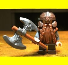 LEGO THE HOBBIT LORD OF THE RINGS GIMLI w/ AXE GENUINE AUTHENTIC MINIFIGURE RARE