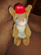 "Kangaroo Westfield Shopping Center 10"" stuffed plush Red Westie Hat Ball Cap"