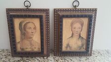 Vintage, antique style pictures 'The Lady Parker' and 'The Lady Montegle'