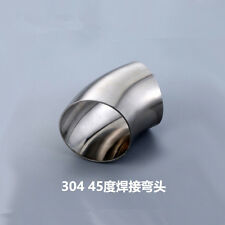 Od45mm 1-3/4''Sanitary Weld Elbow Pipe Fitting 45 Degree 304 Stainless Steel*2 T