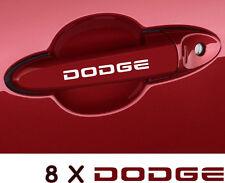 8 X Dodge Door Handle Wheels Decals Stickers Graphics Vinyl Emblems Logo Car A