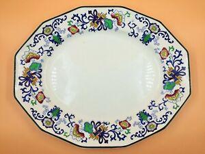 "Antique Royal Doulton Pottery Nankin green edged serving platter. 597783. 15.5""."