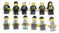 LEGO LOT OF 12 MINIFIGURES COPS & ROBBERS POLICE THIEVES OFFICERS