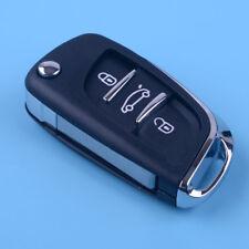 3 Button Folding Flip Key Shell Remote fit Peugeot 406 407 408 307 308 107 207