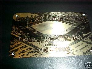 CHICAGO WHITE SOX  COMISKEY PARK  Stadium seat PLAQUE