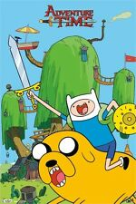 ADVENTURE TIME POSTER ~ SWORD & SHIELD 22x34 Cartoon Network Finn Jake Ooo