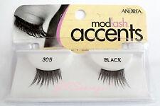 NIB~ Andrea Modlash ACCENTS #305 HALF LASH  Doll Lashes Eyelashes Black Lash