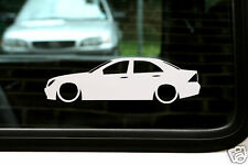 2x Lowered car outline stickers - for Mercedes W203 c-class C220 cdi, kompressor