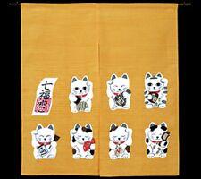 JAPANESE Noren Curtain Maneki-Neko NEW(N-I)