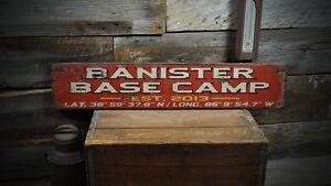 Custom Base Camp Established Date Sign - Rustic Hand Made Wooden