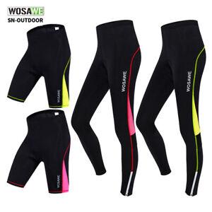 Women Cycling Shorts Gel Padding Ladies Mountain Bike Pants Compression Trousers