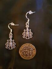 Christmas Tree Hook Earring Tibetan Silver CURLY