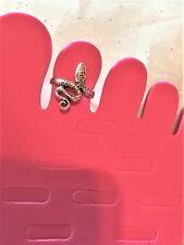 Adjustable Toe Ring #924 Antiqued Sterling Silver Snake