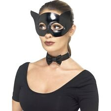 Women's Fever Catwomen Eye Mask Collar Masquerade Ball Fancy Dress Instant Kit