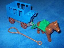 Lego Duplo Schloss Prinzessin Ritterburg große Kutsche Blau Grau + Pferd 4862