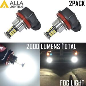 Alla Lighting LED H8 Driving Fog Light Bulb Lamp 6000K Bright White Replacement