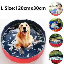 More details for 120cm large pet portable bath swimming pool foldable paddling pool puppy bathtub