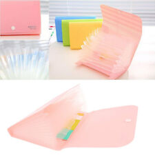 Plastic Office Storage Document Bag File Folder Expanding Wallet Bill Folder New