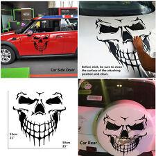 Car Truck SUV Universal Black Skull Skeleton Large Graphic Body Door Vinyl Decal