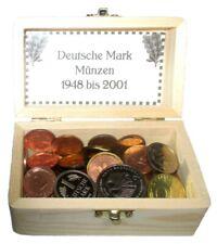 Deutsche Mark Nostalgie Geschenk Box 86 Münzen 1Pf-2DM BANKFRISCH 1950 bis 2001