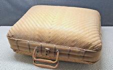 Ancienne Valise Mallette avec Anse Osier Rotin Décoration Vintage