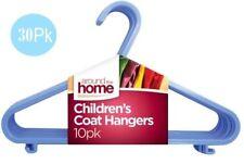 30 x Children Plastic Hangers Coat Clothes Baby Kids Laundry Hanger Bright Blue