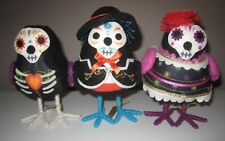 2018 TARGET 3 Pack Set Day of Dead Dia De Muertos Fabric Birds Halloween Decor