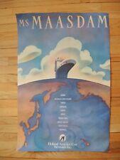 RARE Holland America Line 'MS Maasdam' Travel Agent Poster Original! 1994
