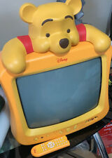Rare retro Disney Winnie the pooh crt tv With Remote Tested & Working