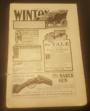 1903 VINTAGE ADD WINTON,THE CRESTMOBILE,THE YALE & MARLIN,THE BAKER GUN ADD