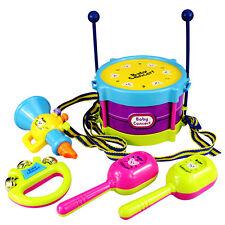 5 Pcs/set Baby Boy Girl Musical Instruments Drum Set Kids Children Drum Toy Set