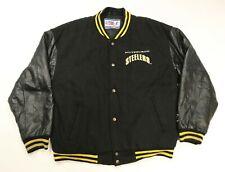 Vintage NFL Pro Line Logo Athletic Pittsburgh Steelers Varsity Leather Jacket M