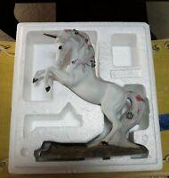 Love's Majesty Rearing Up Unicorn Porcelain Figurine Princeton Gallery 1991