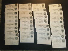 (38) UX5 Postal Cards all w/DIFFERNT 1880-81 BOSTON MA NEGATIVE STATION Cancels