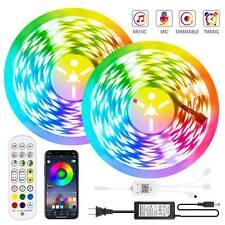 5-30m LED Stripe Wasserdicht RGB Streifen Lichterkette App bluetooth Musik Timer