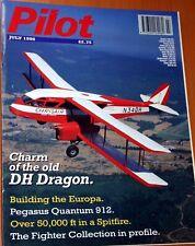 Pilot Magazine 1998 July DH84 Rapide,Pegasus Quantum 912,Spitfire,Europa,Stampe