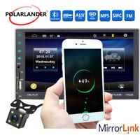 """Enlace de espejo 7"""" 2Din USB/AUX/FM/SD Bluetooth Coche Radio +cámara MP5 estéreo"""