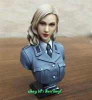 Model Kits Female Soldier Resin Bust 1/10 Officer GK Unpainted Unassembled